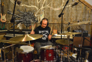 Pete tracking drums